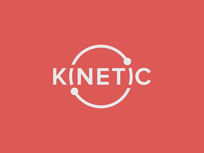 Kinetic Technology Group logotype typography flat technology kinetic branding identity logo