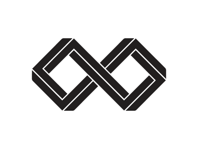 Link Concept 1 penrose impossible geometric infinity logo concept