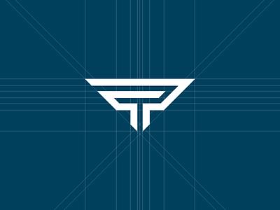 PT Monogram self branding grid monogram pt logo self branding balance precision symmetry