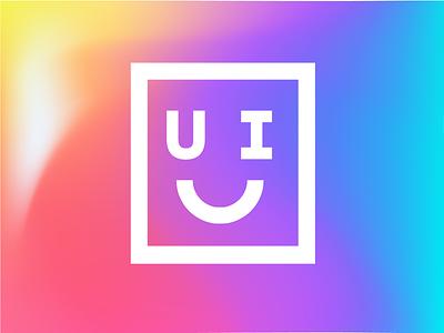 Happy UI design concept branding happy face smiley face ui typography