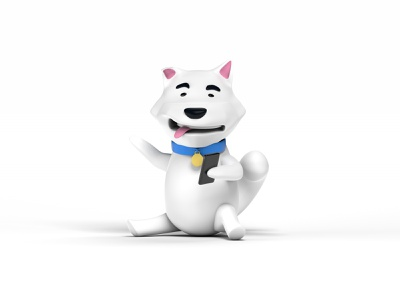 Shiba Inu or White fox? Dunno art minimal website web app design branding illustration modeling cinema 4d 3d art 3d