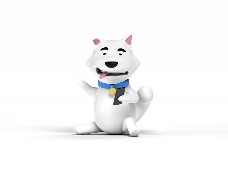 Shiba Inu or White fox? Dunno art minimal website web app design branding illustration modeling cinema 4d 3d art 3d