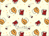 Cute tea pattern
