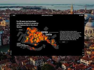 Venice Project Center web design ui