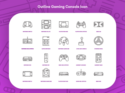 Outline Gaming Console Icon