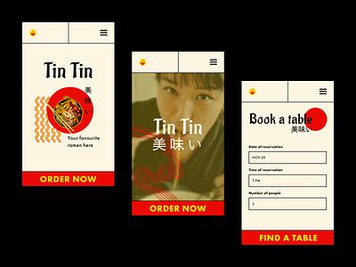 Restaurant Booking app mobile ux restaurant photography noodles food asia ui typography design