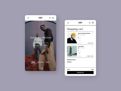 Fashion store - App Design shopping cart shopping clothes fashion ux photography ui typography design