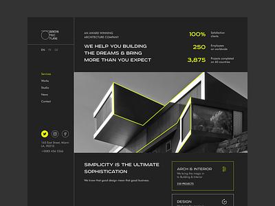 Architecture Studio studio black architecture website webdesign photography typography ux ui design
