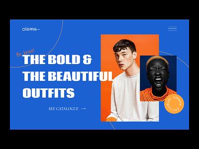 Fashion e-commerce landing page web design web site colours fashion store website ux photography typography design ui