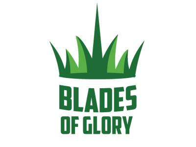 Blades of Glory Logo grass logo turf artificial crown