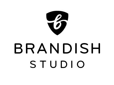 Brandish Studio logo branding shield b agency