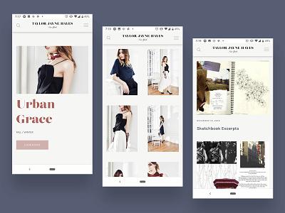 Taylor Jayne Hayes mobile mobile web website portfolio logo design typography web design ui fashion design branding