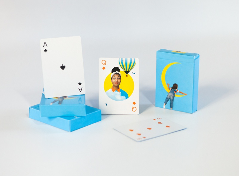 Playing Cards print design playing cards design graphic design illustration collage