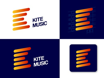 Kite Music Logo Design