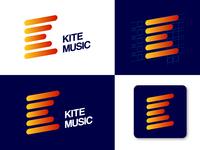 Kite Music Logo Design