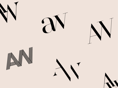 AW Logo design branding logo