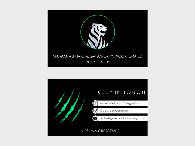 Sorority Business Card busines card design