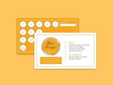 Thai Recipe Bistro Business Card business card design