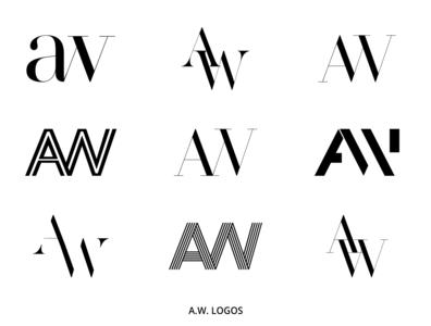 A.W. Logo logo design