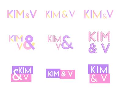 Kim and V Logo logo design