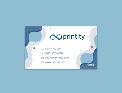Printity Business Card business card design