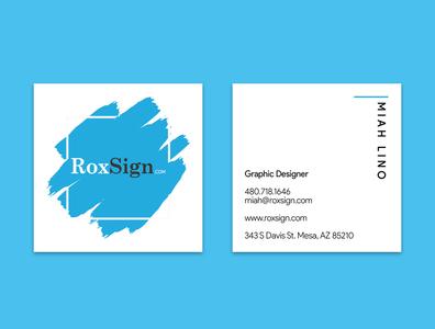 RoxSign Business Card business card design