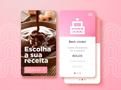 Proposal for app development sweet pink chocolate confectionary candy design digital device mobile app