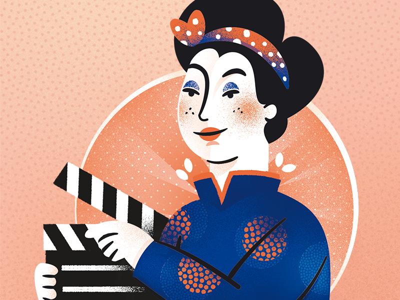 Revista Galileu - junho 2018 girlpower movie cinema illustration girl woman feminism editorial