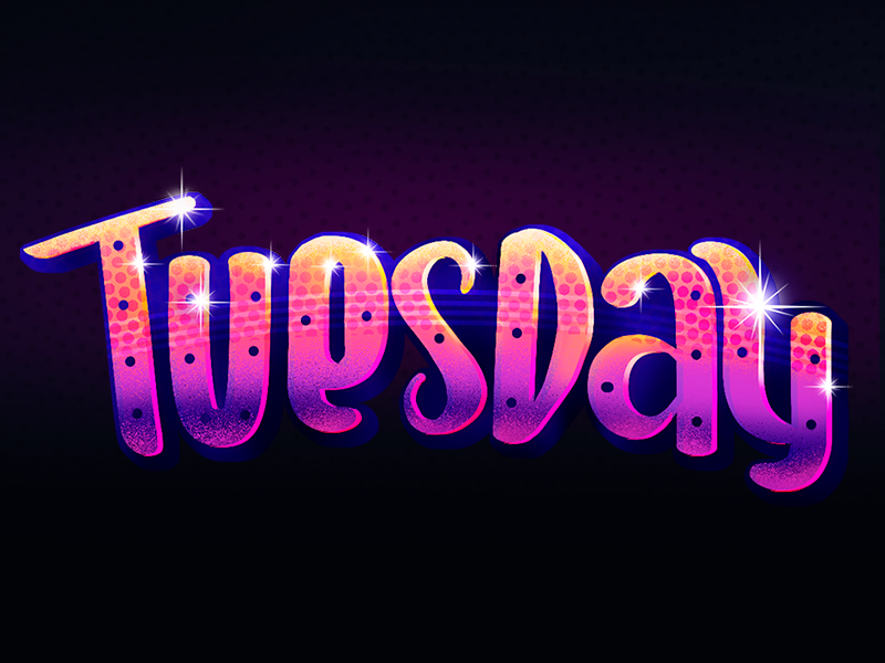 Snapchat Geofilters . Days of the week sticker typography letter 80s retro week tuesday day snapchat lettering type