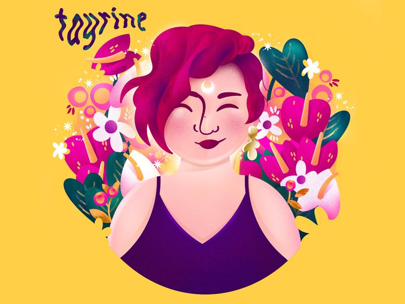 My Meet the Artist - Self portrait plant cartoon character feminist girl woman photoshop illustration digital portrait artist