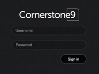 Cornerstone9 Login Form