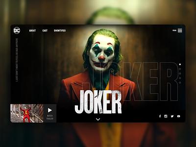 Joker Web Design website design web design website concept webdesigner uxdesign uxui ui ux webdesign joker