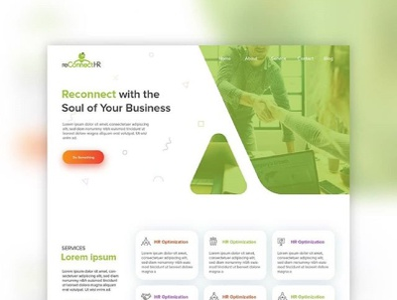 Reconnect HR UI/UX Design design human resources web designer web design webdesign ui ux