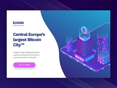 Eligma web isometric 3d shopping crypto trading crypto wallet crypto exchange crypto crypto currency landing page illustration design branding ux ui