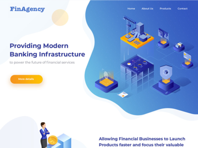 Financial Services Landing Page