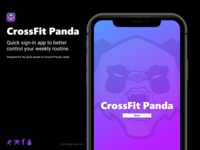 Crossfit Panda - Sign up faster, a UI\UX sprint project