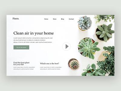 Clean Air website ui ux design web web design ux ui design