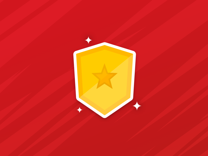 Challenge icon badges badge winner star sports challenge mobile icons application sketch design illustration