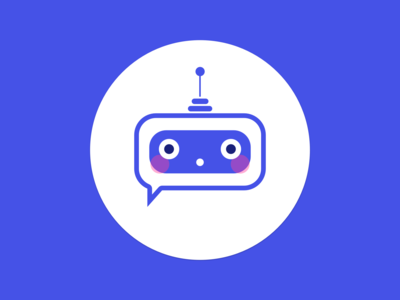 🤖Chatbot icon illustration humanised blushed interaction sketch ui conversational chat avatar website recruitment icon bot chatbot design