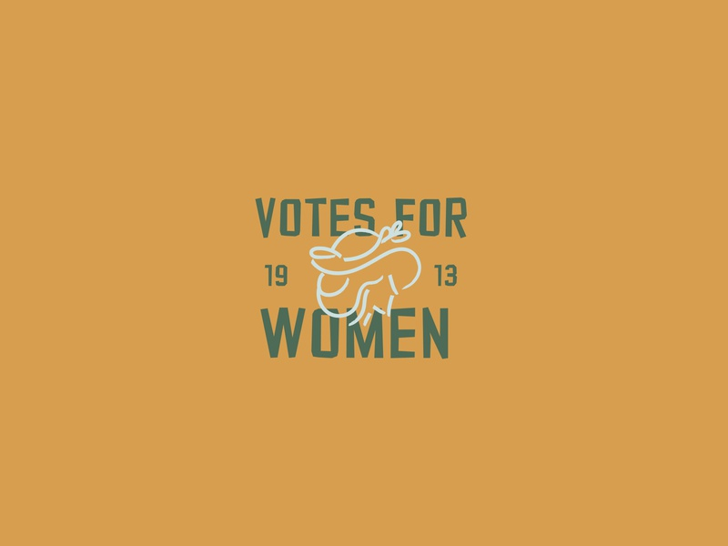Iconic Protests | Women's Suffrage 👱‍♀️ change rights revolution women empowerment vote movement suffrage female women sticker typography poster typography illustration font icon minimal adobe illustrator 2d design daily