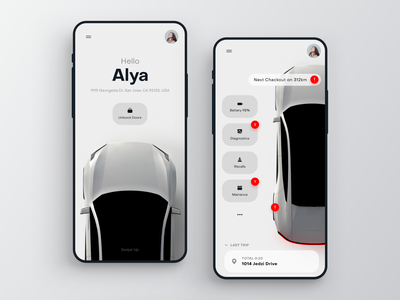 Personal Drive App dashboard driving car app customer experience location principle animation map car interaction app design ios application ui ux mobile