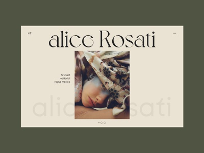 Alice Rosati clean layout content design concept ui content creation web typography website photography fashion editorial design editorial design
