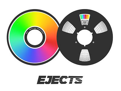 EJECTS Logo Idea's 2015 minidisc reel to reel rainbow reflection cd rough draft logo