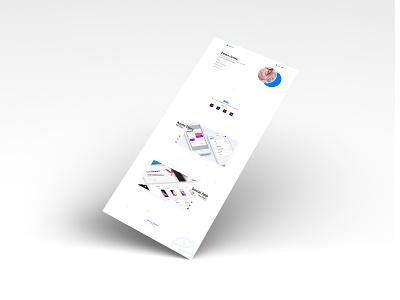 Portfolio Website porfolio follow me web ui like webside animation photoshop branding fashion following design add