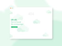 DailyUI #008 - 404 Page 😳☁
