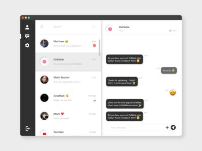 DailyUI #013 - Direct Messaging 💭🤩