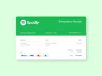 DailyUI #017 - Email Receipt 📧🎧