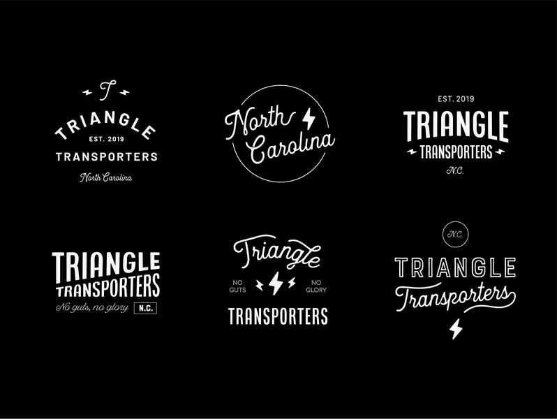 Triangle Transporters retro wip automotive north carolina raleigh durham typography branding logo design