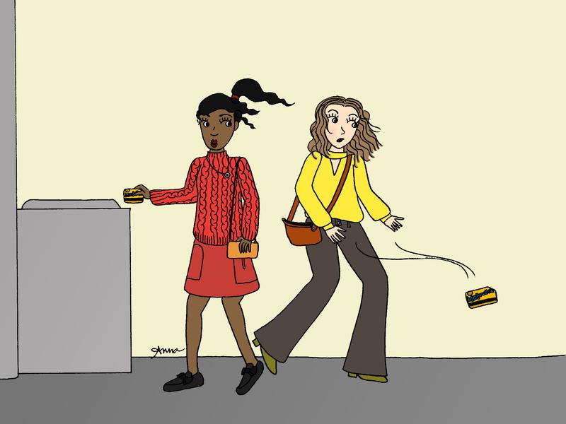 Runaway Metrocard colorful fashion girls nyc subway mta digital color girl character illustration girl illustration girl drawing