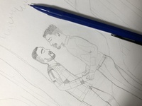 Couple commission, in progress